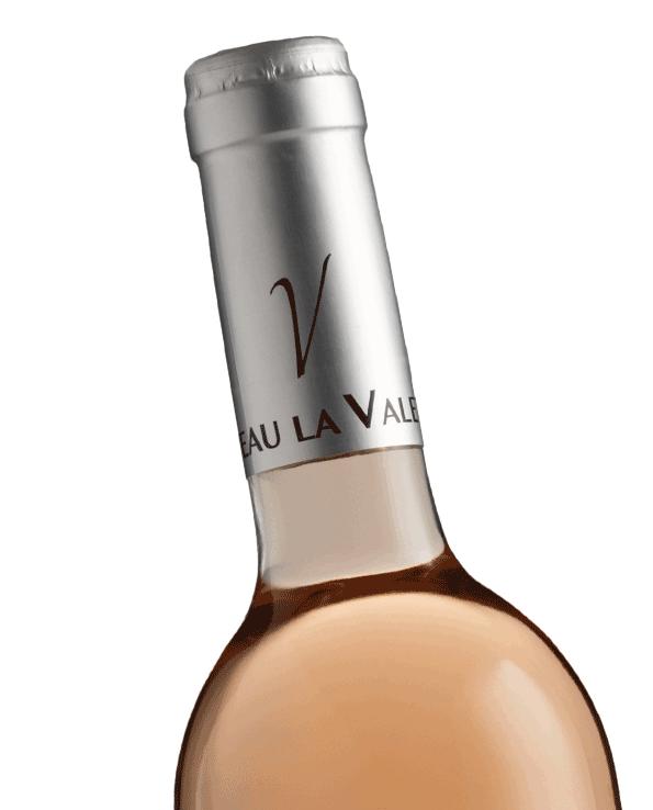 vin rosé AOC Côtes de Provence du Château la Valetanne domaine viticole à La Londe