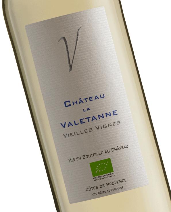 vin blanc AOC Côtes de Provence du Château la Valetanne domaine viticole à La Londe
