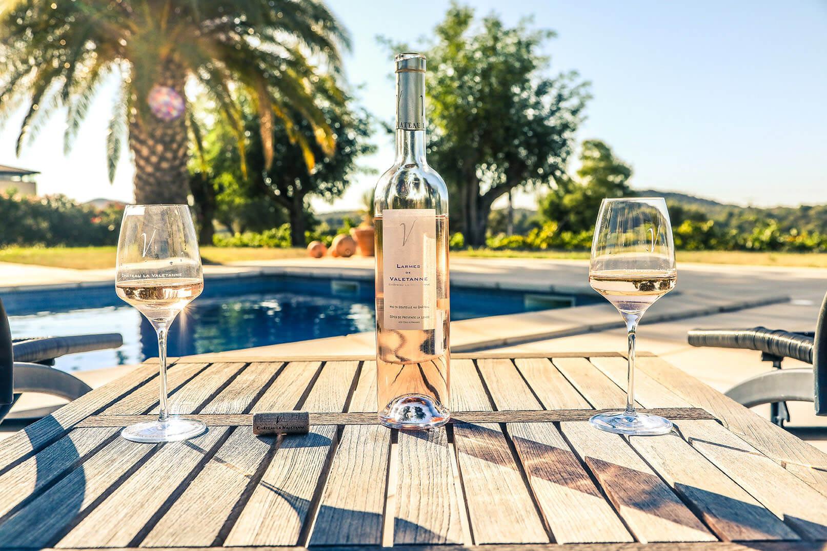 vin rosé bio Château la Valetanne à La Londe
